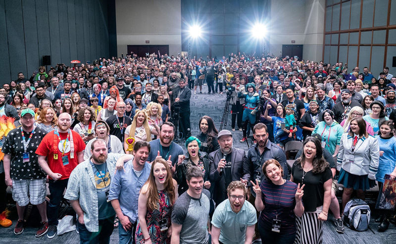 """The """"PLUS ULTRA! My Hero Academia Voice Actor Q&A"""" produced by Wasabi Anime with Funimation for Fan Expo Dallas 2019."""